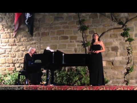 My student, Dora Garcidueñas in the final student concert of Casentino Voice 2014  - Master Class of Soprano Valerie Girard.