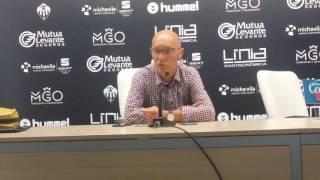 Declaraciones de Frank Castelló antes del partido ante el Muro