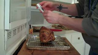Cooking A Pork Roast With Dijon Mustard And Garlic Hd