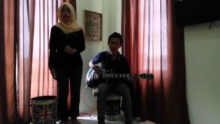 Jatuh hati-raisa (cover by nia ft sani)