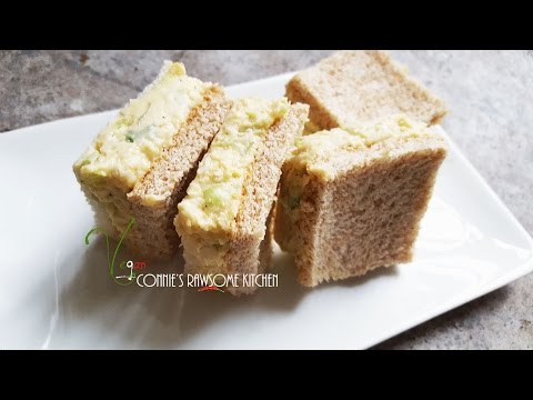 chickpea #3 EGGSALAD party sandwiches WITHOUT EGGS! | Connie's RAWsome kitchen