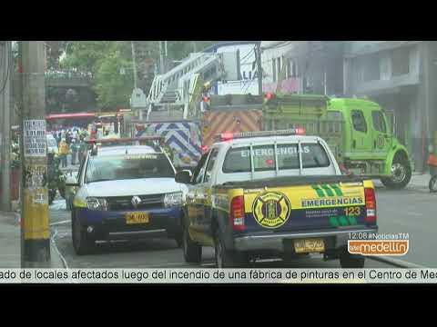 Este es el panorama tras el incendio registrado en el Centro de Medellín [Noticias] - Telemedellín