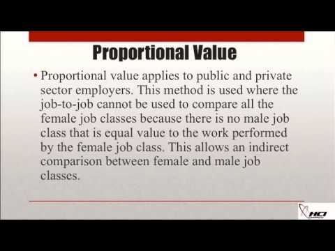 The Proxy Method of Job Comparison for Pay Equity Compliance