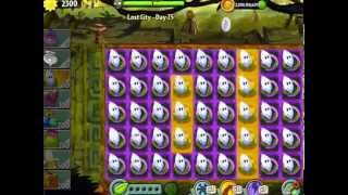 plants vs zombies 2 lost city temple of bloom epic hack level 74 75 no sunflower used challenge