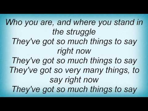 Lauryn Hill - So Much Things To Say Lyrics