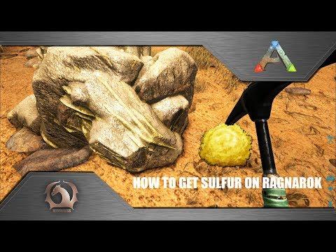 Ark Survival Evolved - How To Get Sulfur On Ragnarok