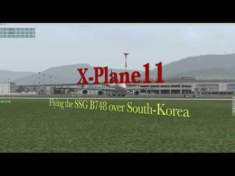 SSG B747-8 v.1.7 test flight under X-Plane11.05r1