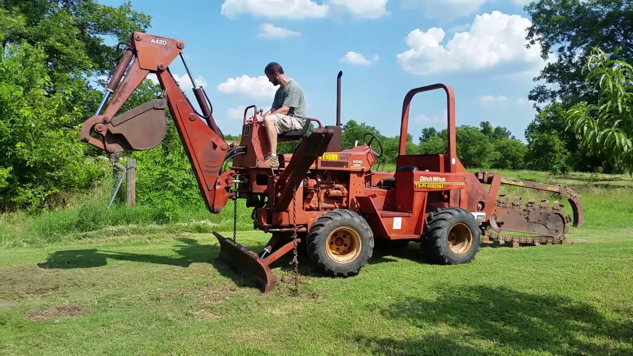 Ditch Witch 4010 Deutz Engine Trencher And Backhoe Combo Sale Wiring Diagram