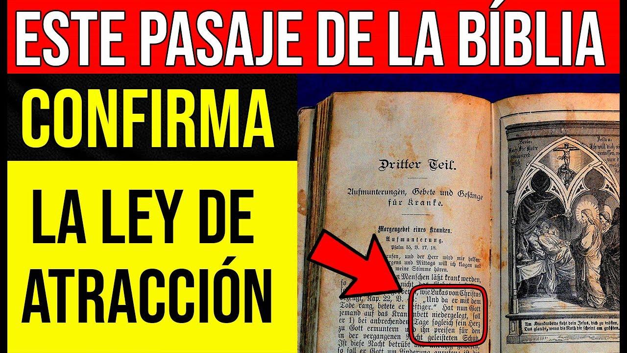ESTA SECCIÓN de la BIBLIA CONFIRMA la LEY DE LA ATRACCIÓN!!!