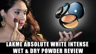 LAKME ABSOLUTE White Intense Wet amp Dry Compact Review Best Compact Powder deepikamakeup