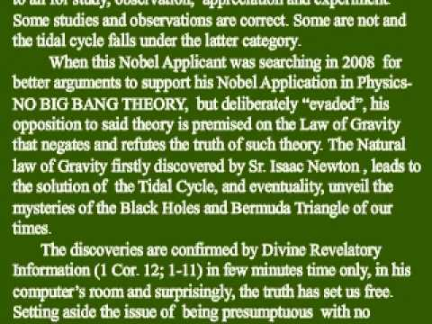 1st 2009 Nobel Physics  Application  -TIDAL CYCLE, Caused By Solar Energy,Not Lunar Gravity