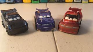Disney Cars Mini Racers Glow Danny Swervez, Glow Jackson Storm, and Glow Tim Treadless reviews