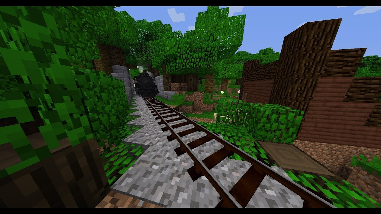 Minecraft Mod Review: Immersive Railroading by Team Lone Wolf