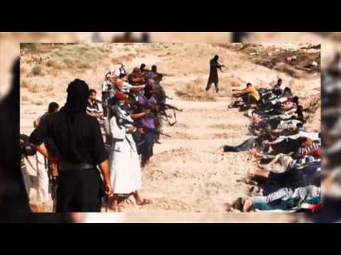 """""""ฆ่าโหด""""สังหารหมู่""""ทหารอิรัก"""" 1,700 นาย"""