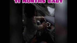 11MONTHS BABY DRIVING