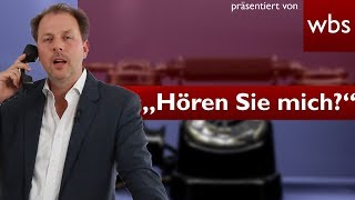 "Telefonabzocke: ""Können Sie mich hören?""   Rechtsanwalt Christian Solmecke"