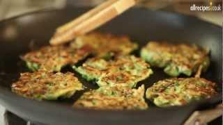 Crispy Courgette Fritters Recipe - Allrecipes.co.uk