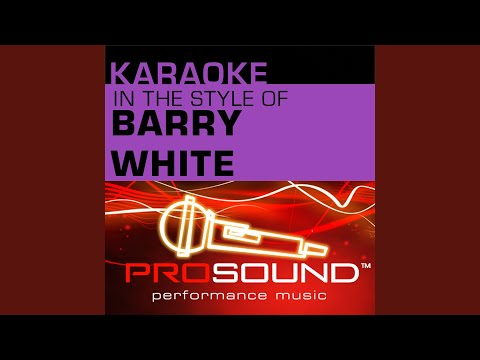You're The First, The Last, My Everything (Karaoke Instrumental Track) (In the style of Barry...