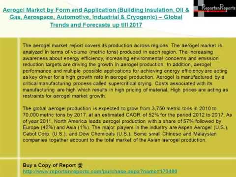 Aerogel Market by Building Insulation, Oil & Gas & Cryogenic Forecasts to 2017