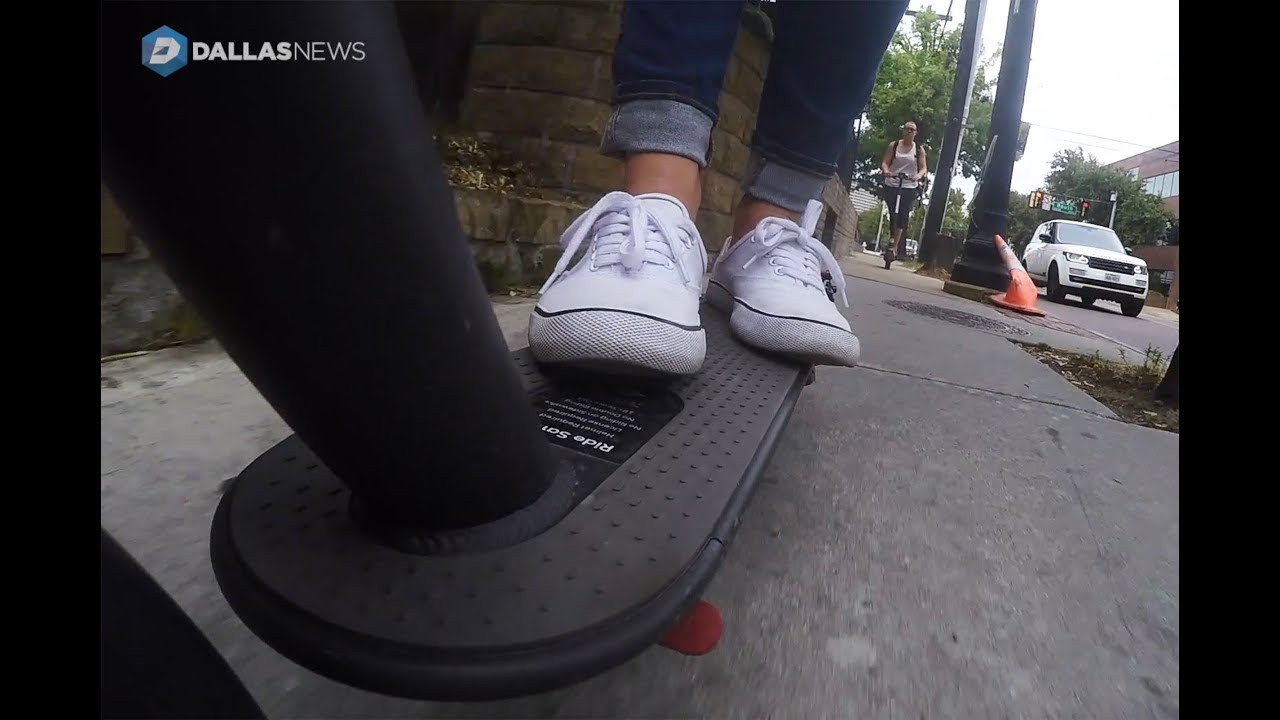 test-driving-rental-scooters-in-dallas