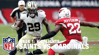Saints vs. Cardinals | Week 1 Highlights | NFL