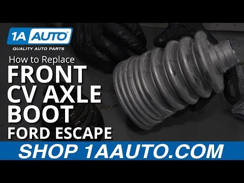 How to Replace Front CV Axle Boot 08-12 Ford Escape