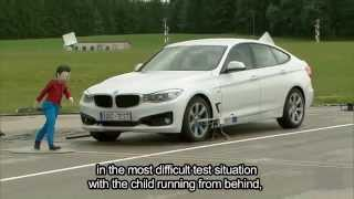 ADAC 2014 test of Pedestrian Auto Emergency Braking (AEB) systems