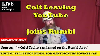 Colt Departing (For the most part) YouTube for Rumbl