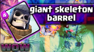 """GIANT SKELETON BARREL!?"" - Clash Royale - Giant Skeleton + Goblin Barrel 3 Crown Strategy Guide"