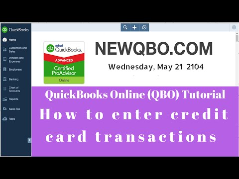 QuickBooks Online QBO - how to enter credit card transactions |  record credit card payments