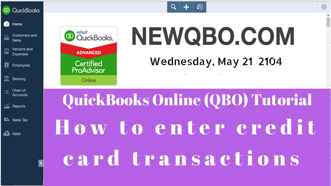 Quickbooks online qbo how to enter credit card transactions quickbooks online qbo how to enter credit card transactions record credit card payments youtube reheart Choice Image