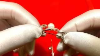 Смотреть видео серебряная брошь с жемчугом