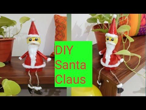DIY Santa Claus/ make santa Claus with old plastic bottle