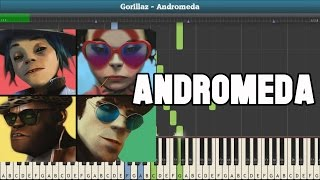 Andromeda Piano Tutorial - Free Sheet Music (Gorillaz)