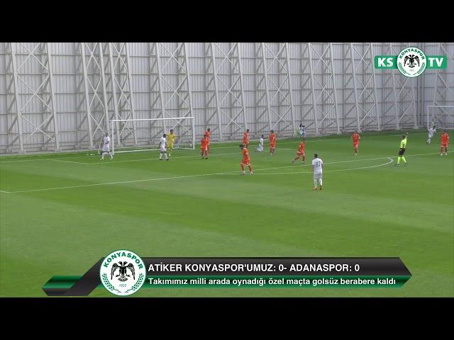 Takımımız milli maç arasında oynadığı özel maçta Adanaspor ile golsüz berabere kaldı