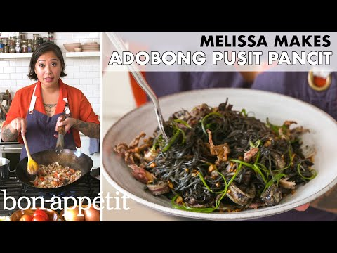 Melissa Makes Adobong Pusit Pancit (Adobo Squid Noodles) | From the Home Kitchen | Bon Appétit