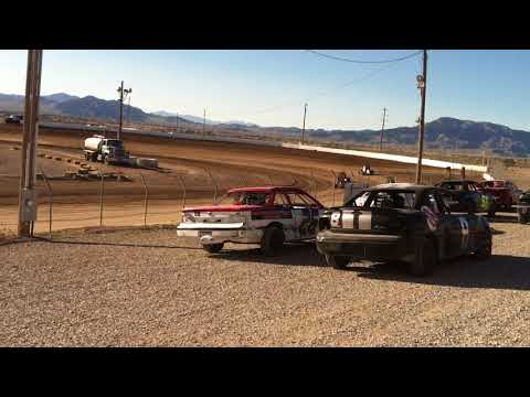 Pahrump valley speedway Microsprint heat race 2-17-18