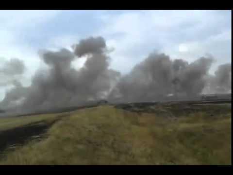 Видео: АТО ДНР обстрел Градом  в Комунаре по позициям ВСУ ВДВ Донецк Луганск Украина в огне