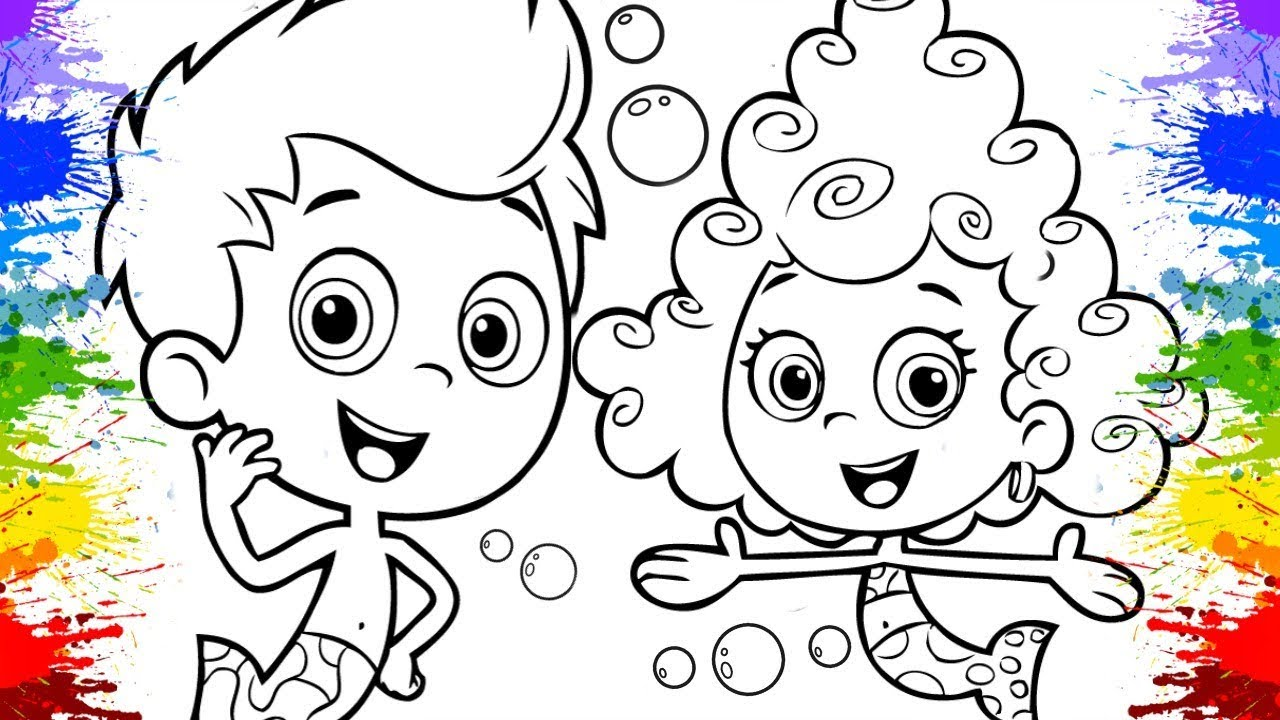 Desenho do Bubble Guppies Gil Molly Deema Cartoons for kids Nick Jr ...