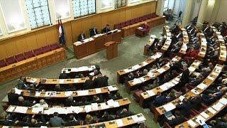 فيديو.. البرلمان الكرواتي يحل نفسه
