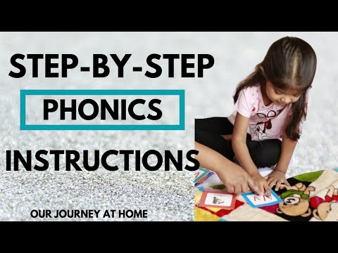 Phonics Step by Step Instructions for Parents, Teachers and Educators | Our Journey At Home