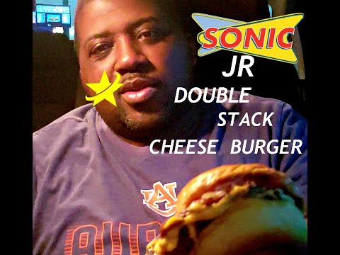 Sonics Jr. Double Stack Cheese Burger (Review)