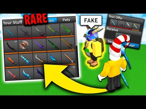 I GAVE THIS ROBLOX HATER MY ENTIRE ASSASSIN INVENTORY *FUNNY REACTION*