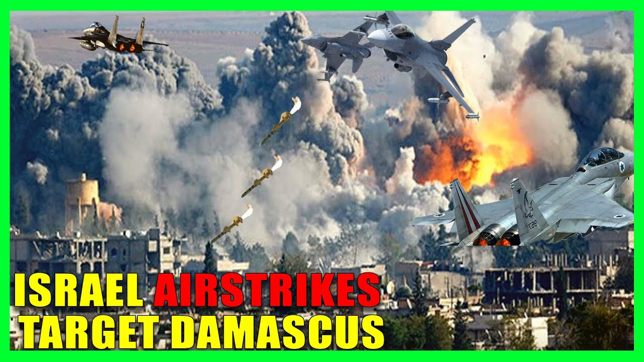 Israel Airstrikes Target Damascus - Huge Explosions on Late Tuesday