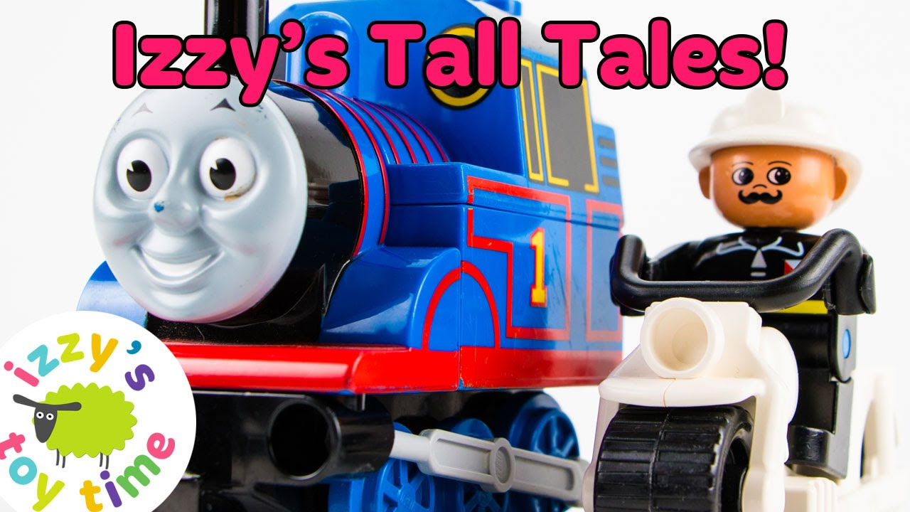 Thomas and Friends and Mean LEGO Man Build the Ultimate Weapon Against Pixar Cars Lightning Mcqueen!