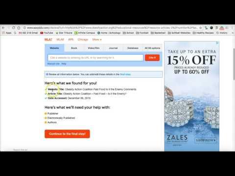 How to Cite a Website using Easybib
