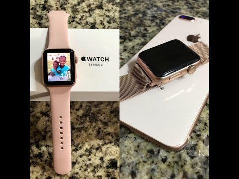 Apple Watch Series 3 (Gold 42mm W/ Pink Sand Sport Band & Milanese Loop ) Unboxing