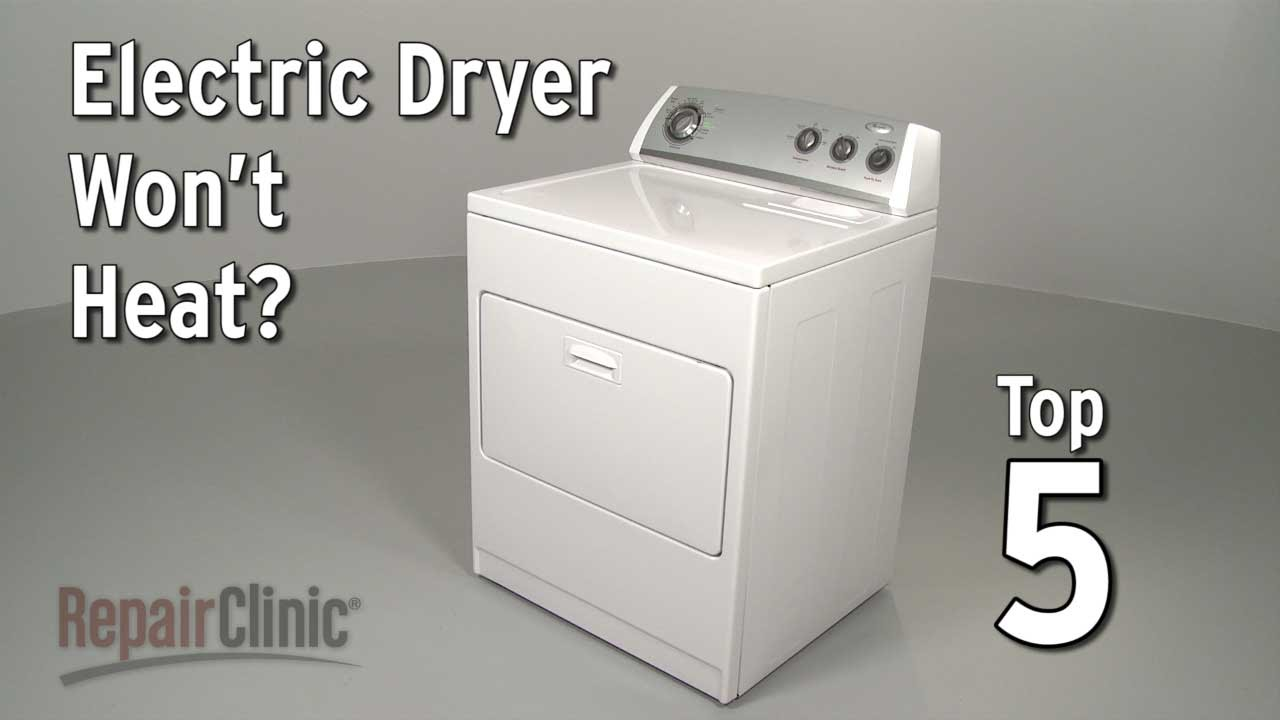 Top Reasons Electric Dryer Not Heating — Dryer Troubleshooting  YouTube