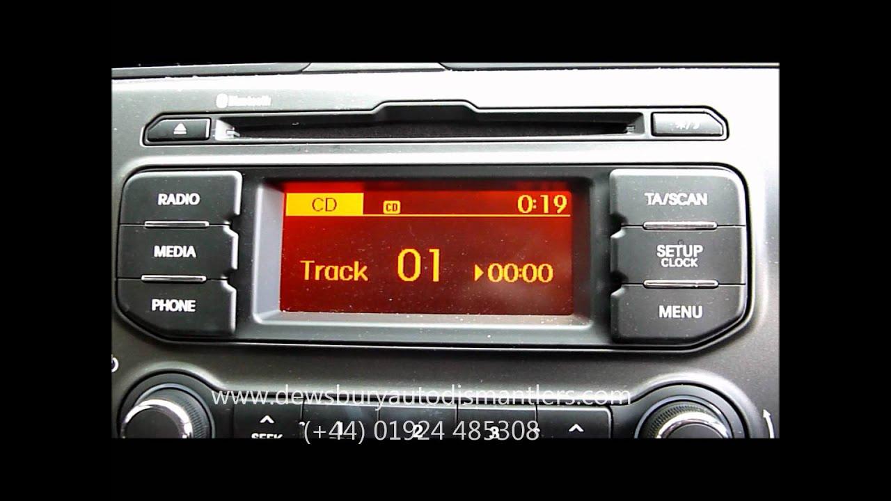 2012 kia rio cd player stereo youtube rh youtube com