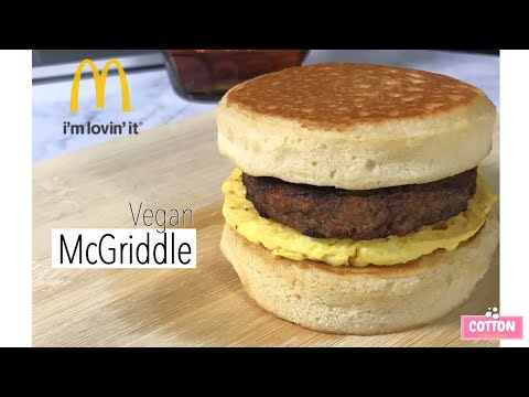 Vegan McGriddle | Dairy Free Breakfast Sandwich | Ft. Gardein Sausage & JUST Egg